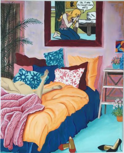 Messy Beds 1 | Oil & Acrylic on deep edge canvas | 61x76cm