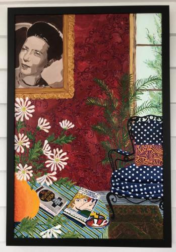 Simone de Beauvoir   Oil & Acrylic on board, framed   61x92cm I SOLD