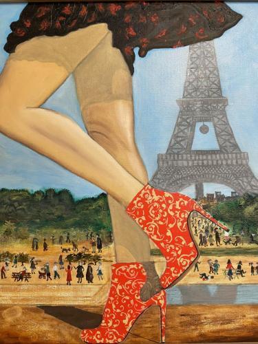 Landscape I I Oil  Acrylic on canvas board framed I 40 x 50cm