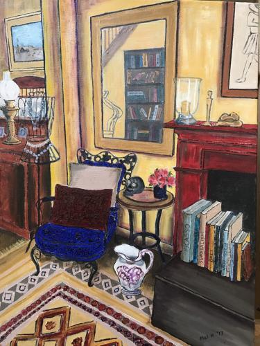 Interior with mirror  | oil & acrylic on narrow edge canvas | 65x60cm | SOLD