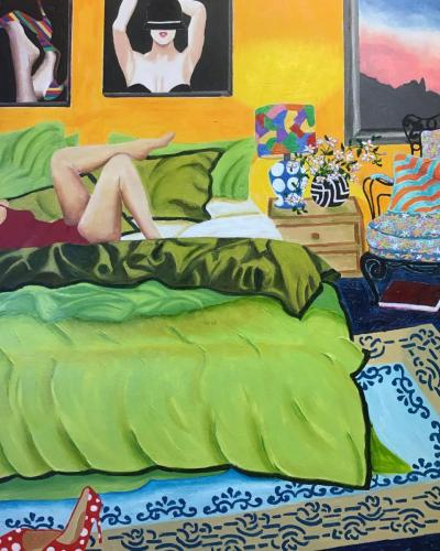 Messy Beds III | Oil & Acrylic on deep edged canvas | 61 x 76cm |